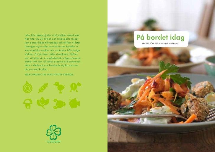 Centerpartiets kokbok - På bordet idag