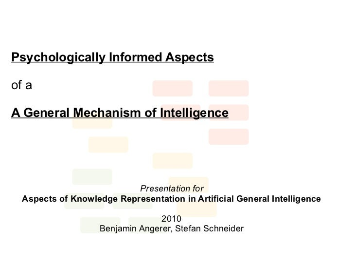 Psychologically Informed Aspectsof aA General Mechanism of Intelligence                           Presentation for  Aspect...