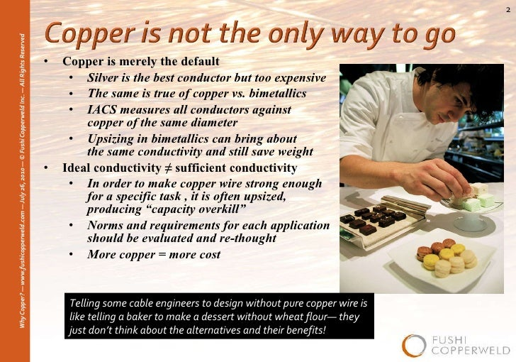 Weight Of Copper Conductors : Why copper