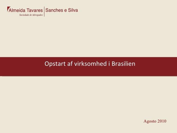 Opstart af virksomhed i Brasilien