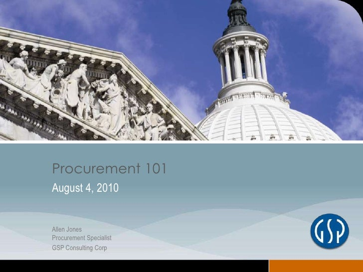 Funding from the Feds - Procurement 101