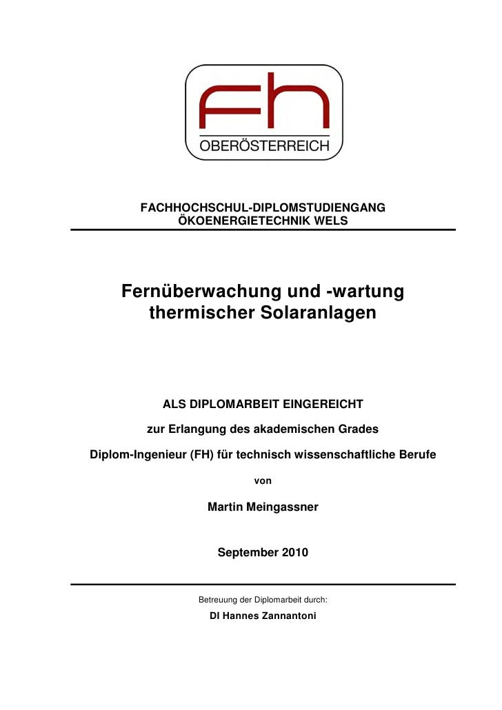 solarthermienator.com Diploma Thesis: Remote-monitoring  and  -maintenance  of  Pumped  Solar  Thermal  Systems - 4mb small
