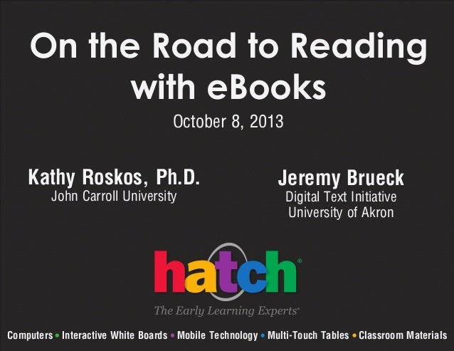 On The Road to Reading with eBooks