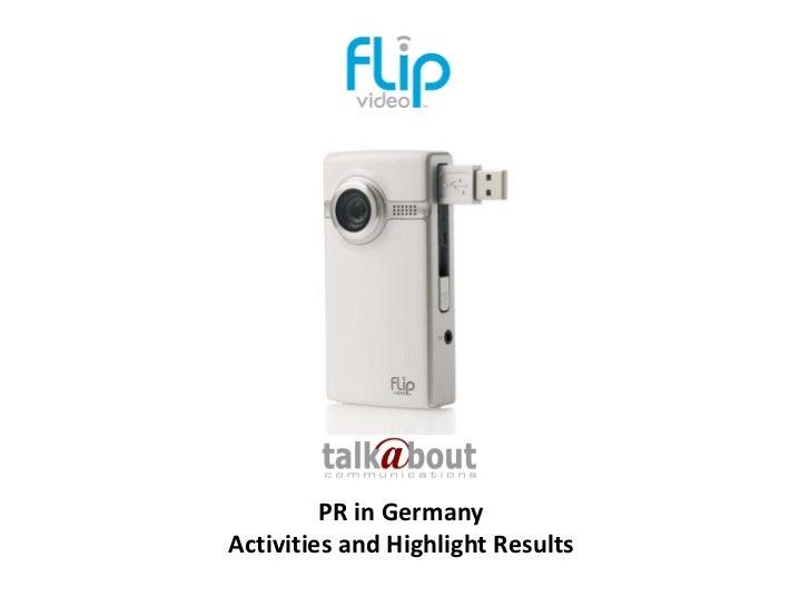 """Projektbericht PR für """"Flip Videokameras"""""""