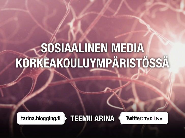 Sosiaalinen media korkeakouluympäristössä