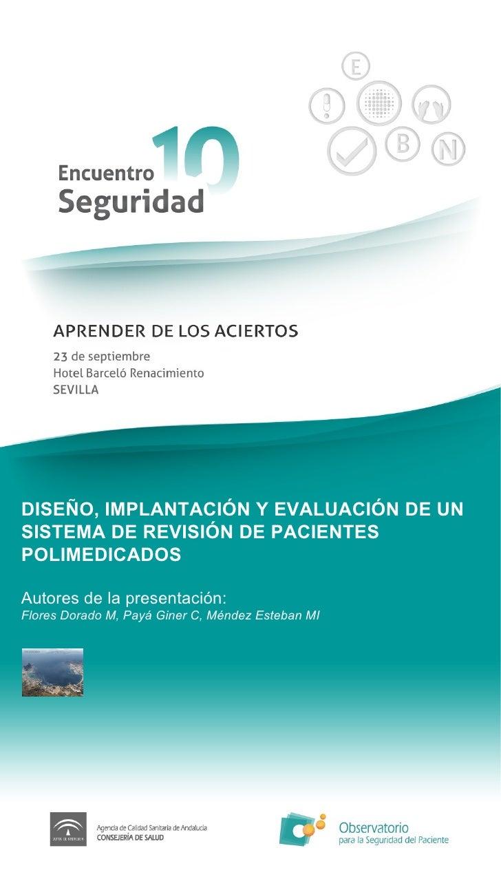 Diseño, implantación y evaluación de un sistema de revisión de pacientes polimedicados