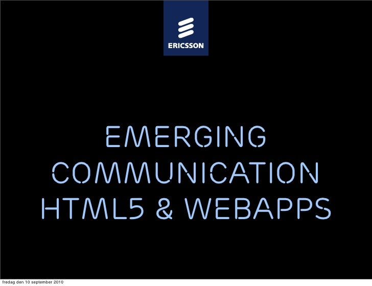 HTML5 impact on application programming