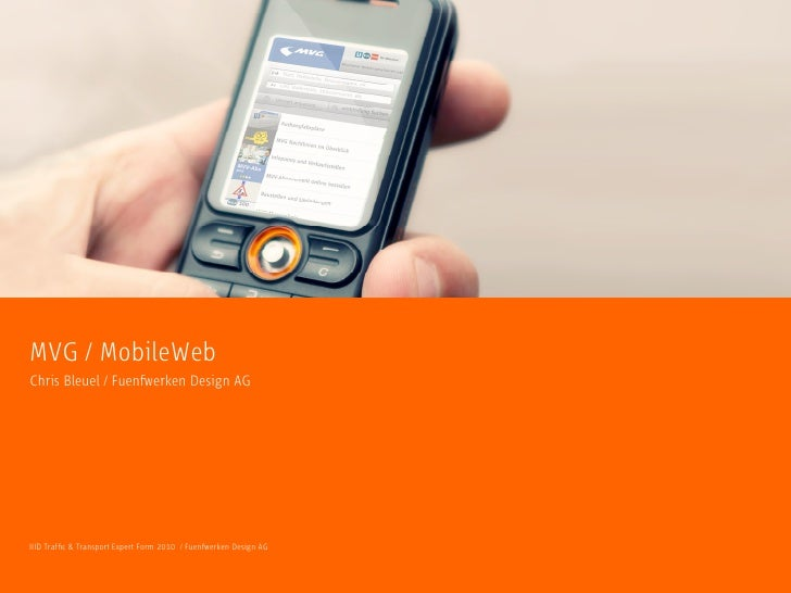 On demand web services for users of Munich´s public transport system