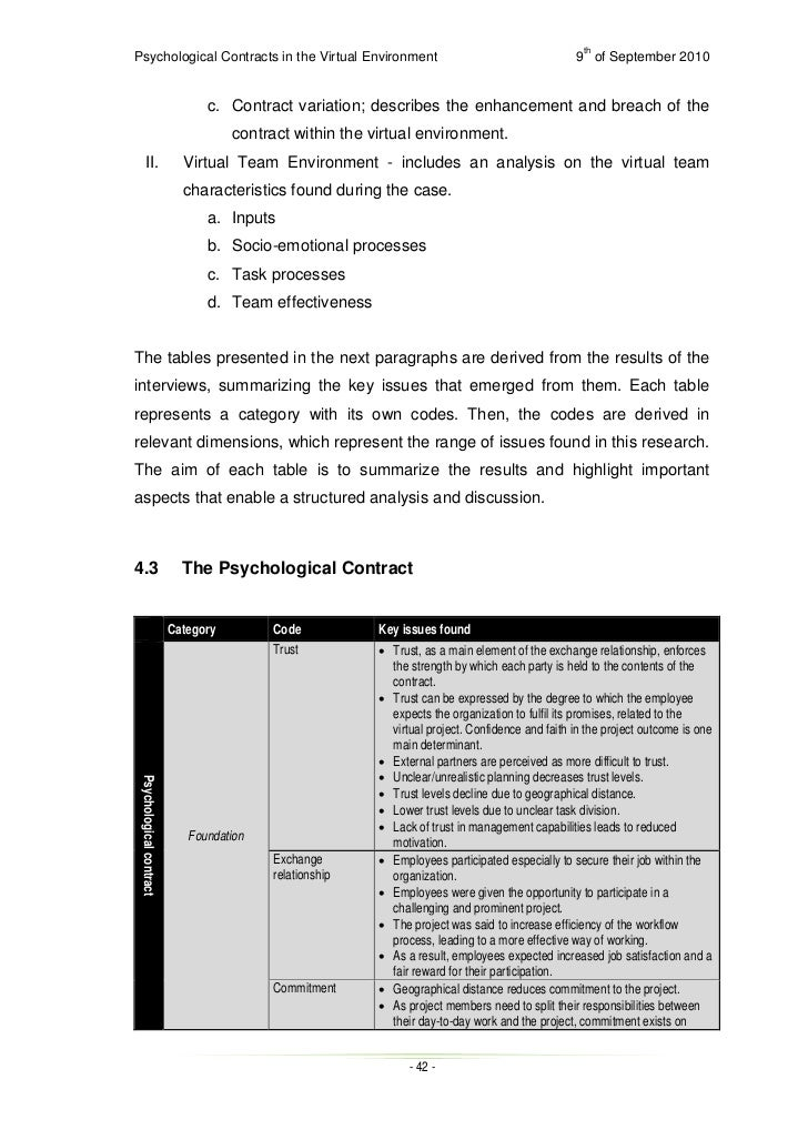 psychological contract breach dissertation Viii abstract the impact of psychological contract fulfillment on employee engagement in the millennial generation: the moderating.