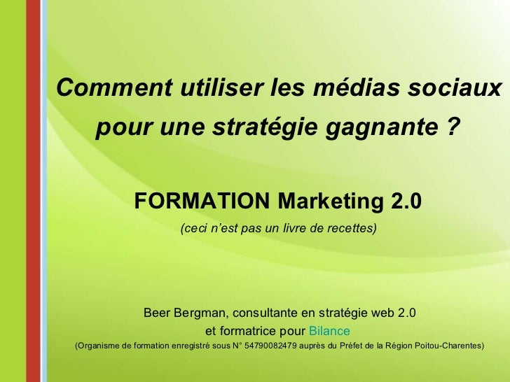 Formation Marketing 2.0 à Poitiers