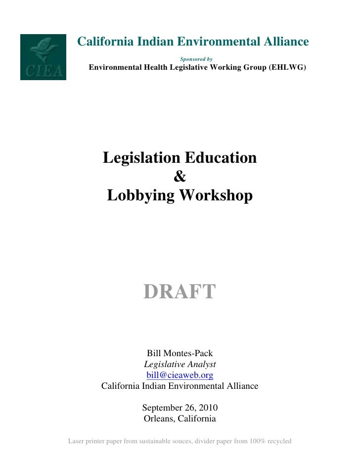 California Indian Environmental Alliance                                       Sponsored by        Environmental Health Le...