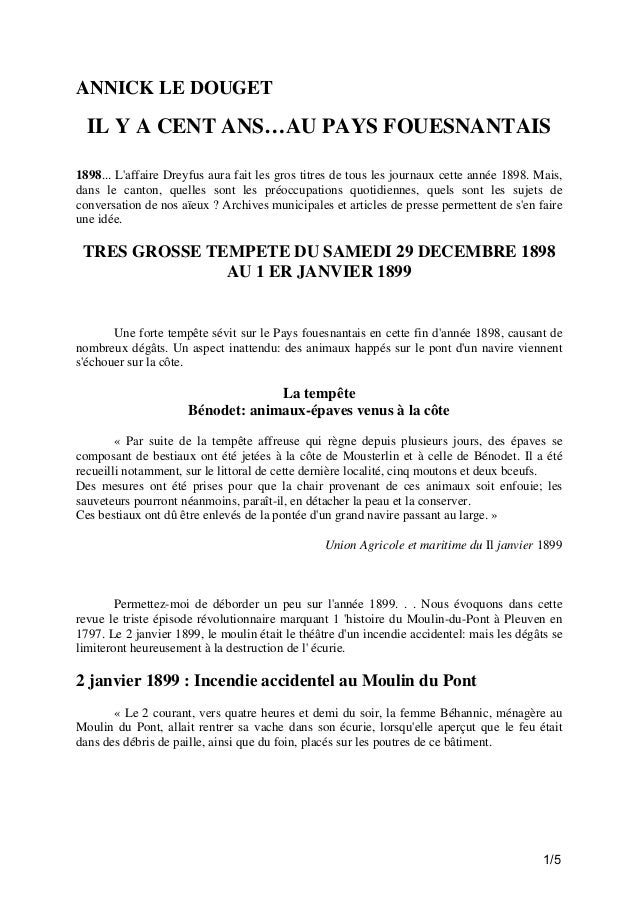 100 ans à Fouesnant