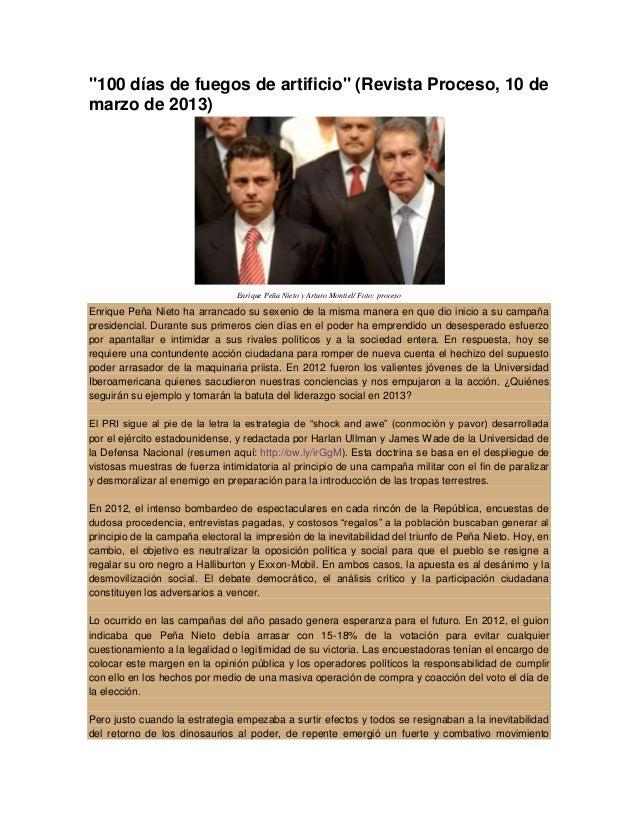 """""""100 días de fuegos de artificio"""" (Revista Proceso, 10 demarzo de 2013)                                Enrique Peña Nieto ..."""