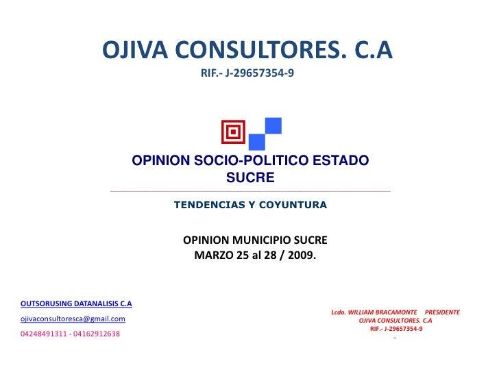 OJIVA CONSULTORES. C.A                                                     RIF.- J-29657354-9                             ...