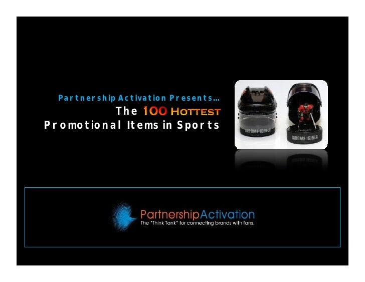 100 Hottest Promotional Items In Sports