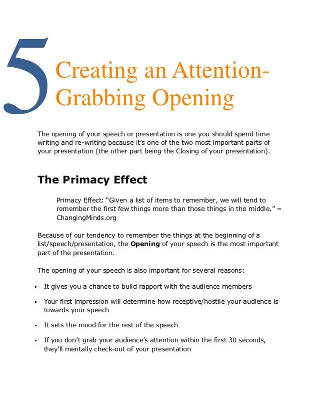 Attention grabbing beginning to persuasive essay....:)?