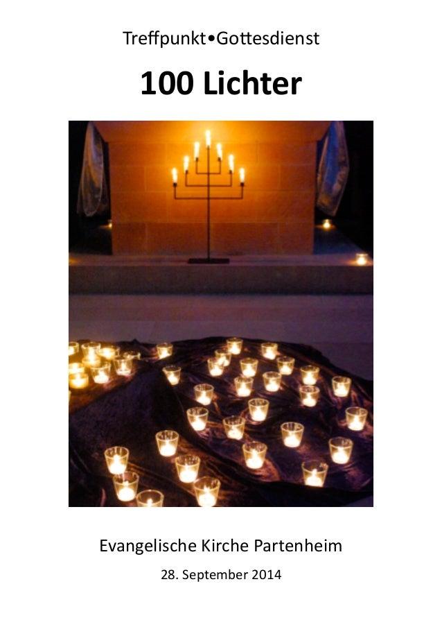 Treffpunkt•Go-esdienst  100  Lichter  2  Evangelische Kirche Partenheim  28. September 2014