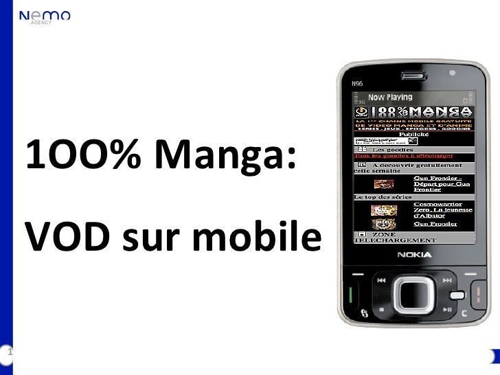 1OO% Manga:     VOD sur mobile  1