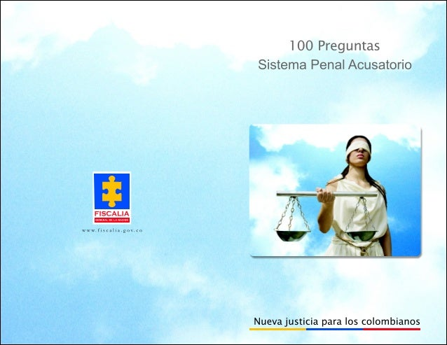 100 preguntas del sistema penal acusatorio