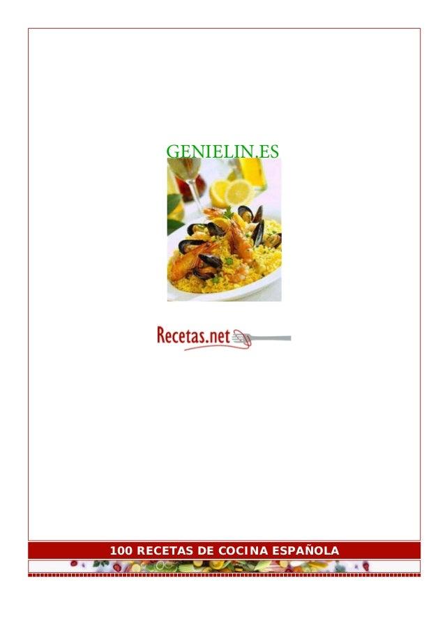 GENIELIN.ES  100 RECETAS DE COCINA ESPAÑOLA
