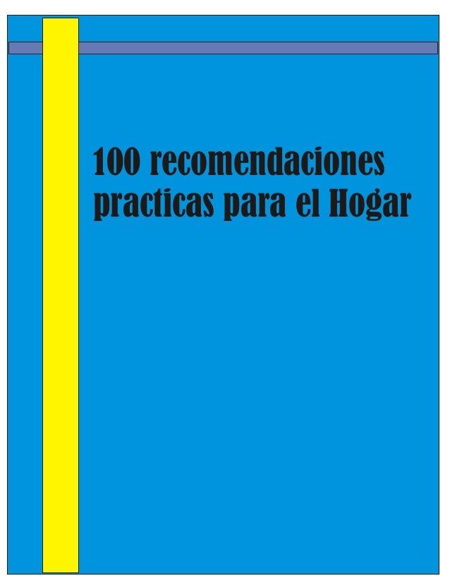 100 recomendaciones para el hogar