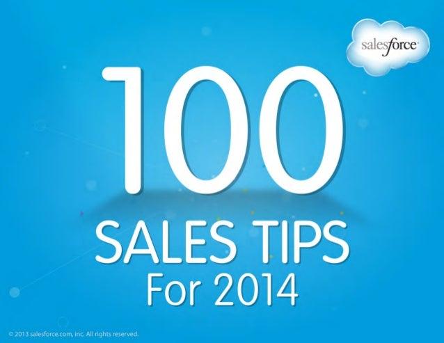 100 Sales Tips for 2014 Salesforce ebook