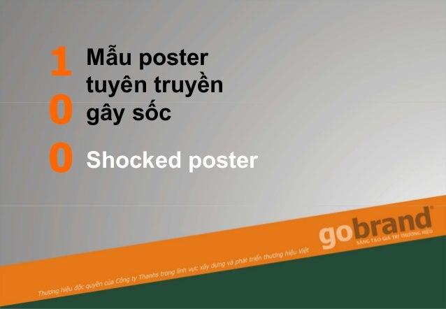 1 0 0 Mẫu poster tuyên truyền gây sốc Shocked poster