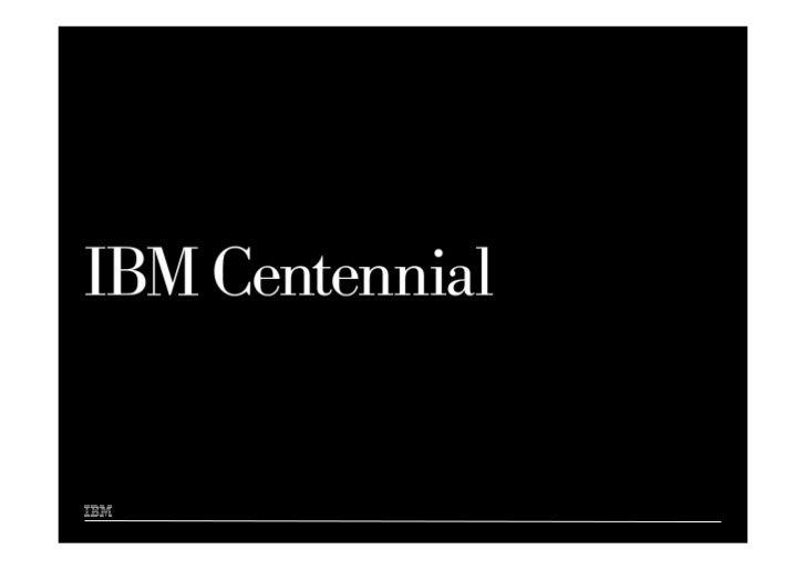100 Years to IBM