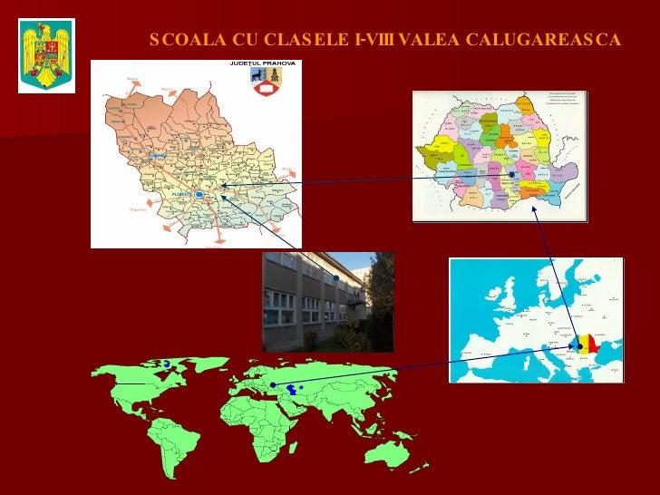 Carte de notre village Valea Calugareasca