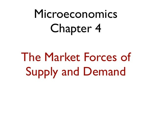 Microeconomics Chapter 4 The Market Forces of Supply and Demand