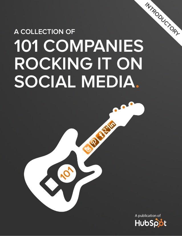 101 Companies Rocking Social Media by HUBSPOT