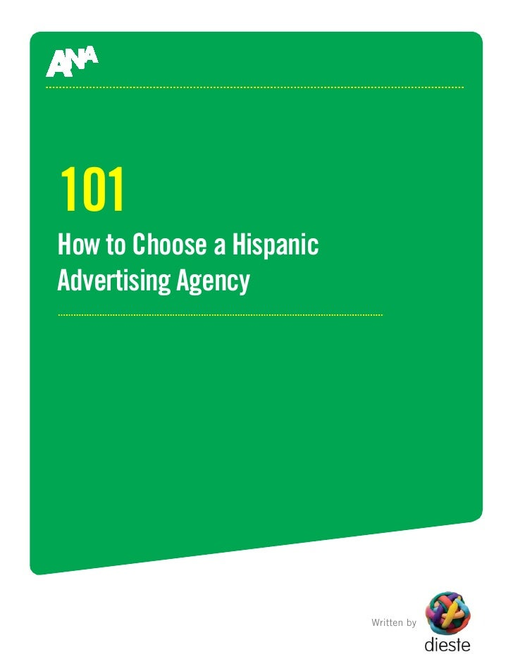 101 How to Choose a Hispanic Advertising Agency                                Written by