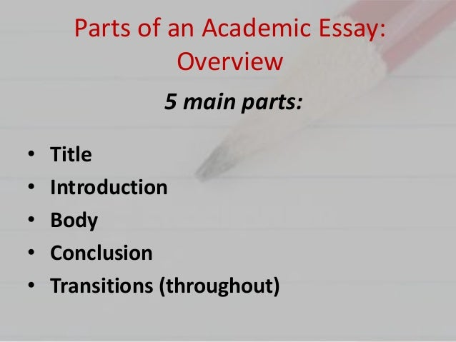 important parts of essay