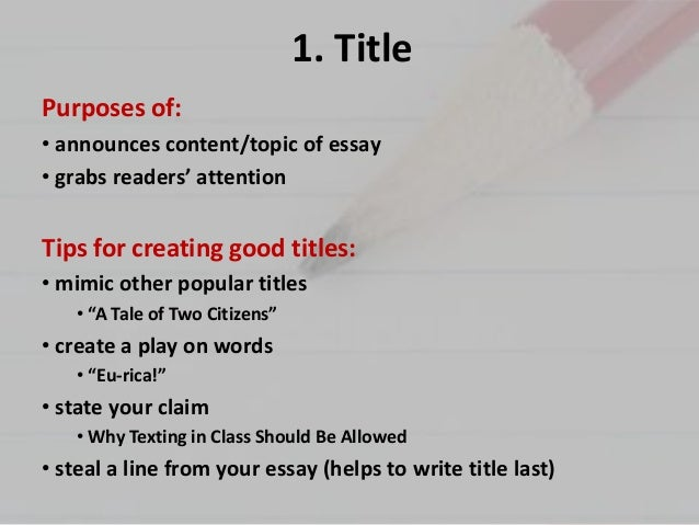 5 main parts of an essay How to write the introduction, body and conclusion of an essay how do i write an introduction use your thesis statement to create three parts 2 body and conclusion of an essay check out our main page for more articles here can u write.