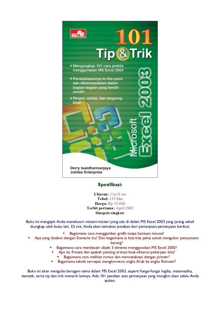 101 tip-trik-ms-excel-2003