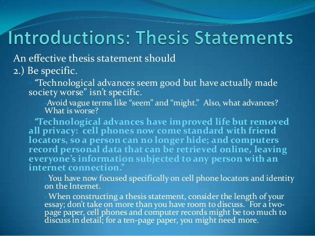cell phone essay thesis An interesting essay sample of the topic of cell phones' impact on our lives.