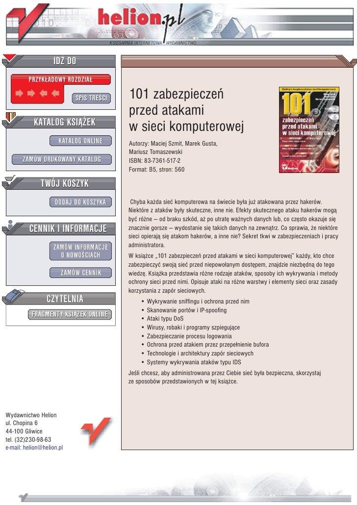 101 zabezpieczeń przed atakami w sieci komputerowej