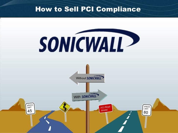 How to Sell PCI Compliance With Without PCI Road Ahead SPEED LIMIT 80 SPEED LIMIT 45
