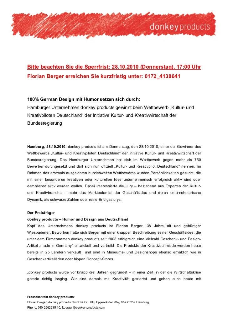 Bitte beachten Sie die Sperrfrist: 28.10.2010 (Donnerstag), 17:00 UhrFlorian Berger erreichen Sie kurzfristig unter: 0172_...
