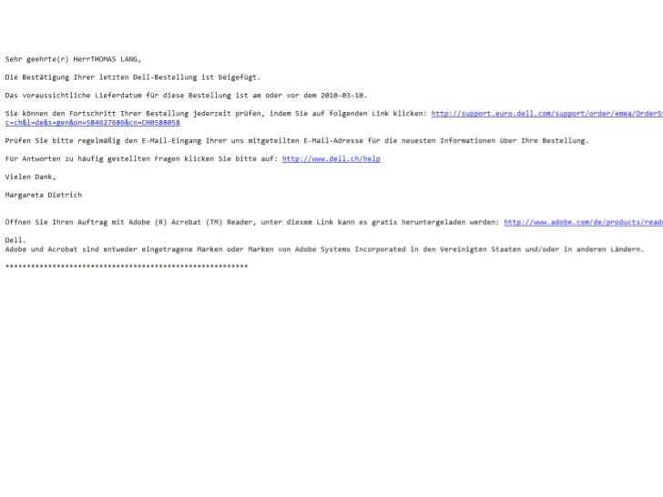 Onlineshop E-Mail Bestellbestätigungen