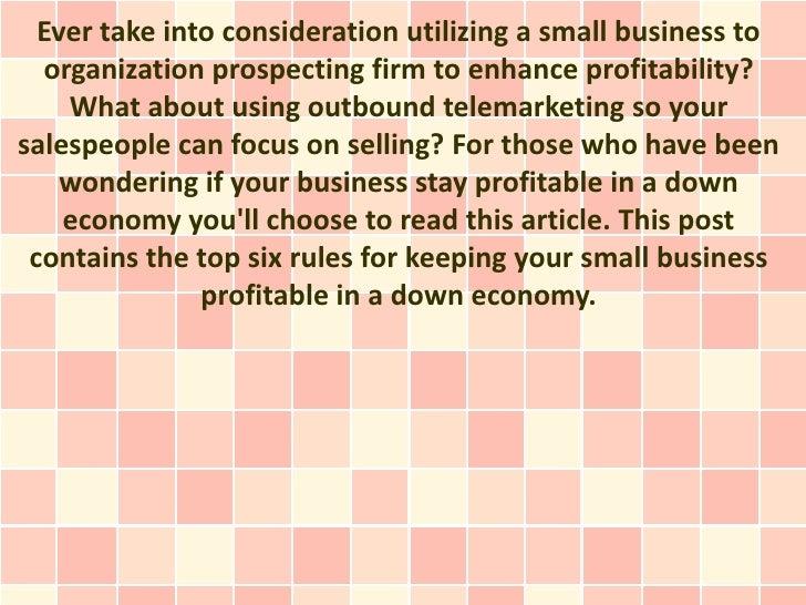 Keep Your Business Profitable In An Exceedingly Ferocious Economy