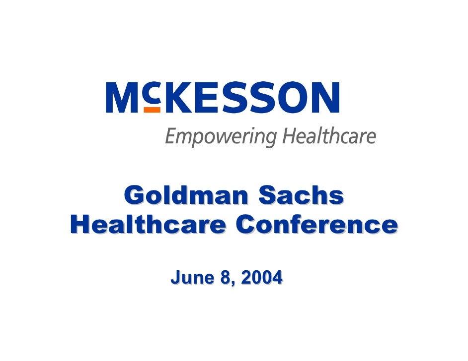Goldman Sachs Conference