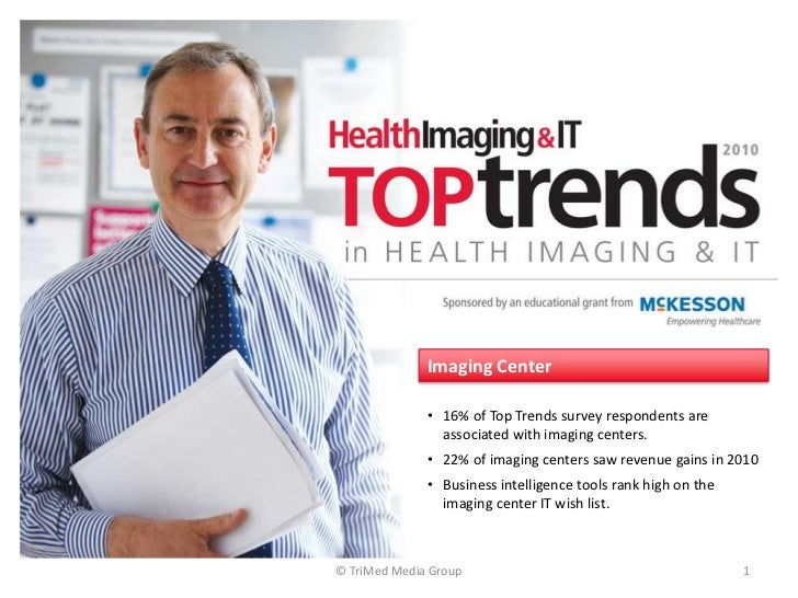 © TriMed Media Group<br />1<br />Imaging Center<br /><ul><li>16% of Top Trends survey respondents are associated with imag...
