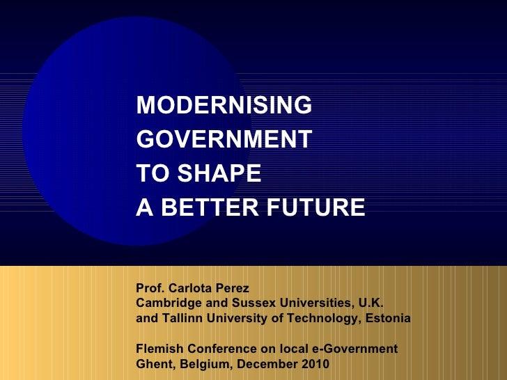 Prof. Carlota Perez – Modernising government to shape a better future