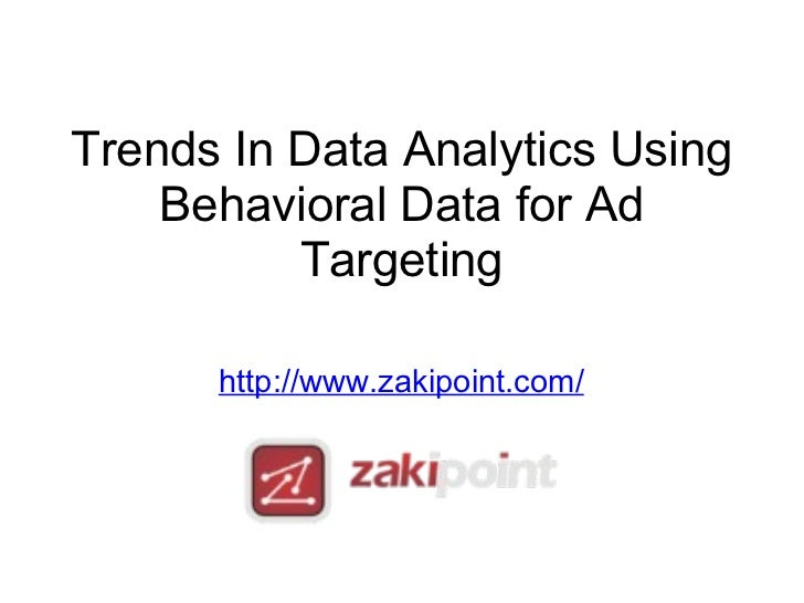 Trends In Data Analytic