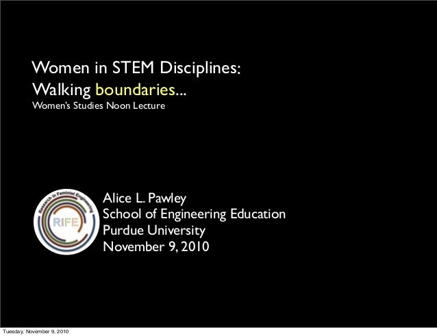 Women in STEM Disciplines: Walking boundaries