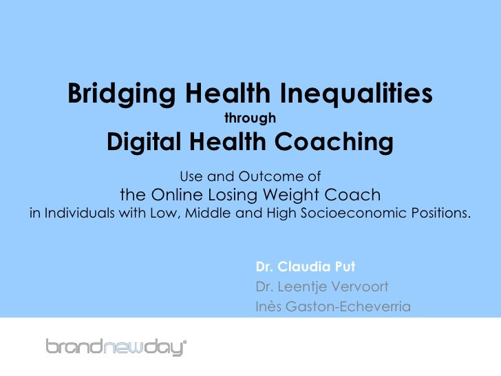 Bridging Health Inequalitiesthrough Digital Health Coaching Use and Outcome of the Online Losing Weight Coach in Individua...