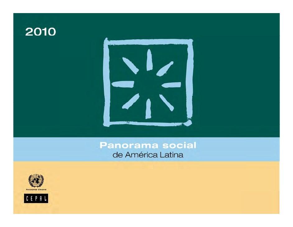 Panorama social de América Latina 2010