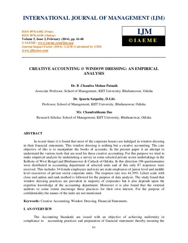 International Journal of Management (IJM), ISSN INTERNATIONAL JOURNAL 0976 – MANAGEMENT (IJM) OF 6502(Print), ISSN 0976 - ...