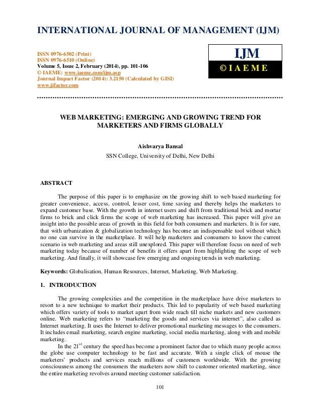 International Journal of Management (IJM), ISSN INTERNATIONAL JOURNAL 0976 –MANAGEMENT (IJM) OF 6502(Print), ISSN 0976 - 6...